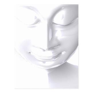 White Buddha Face Postcard