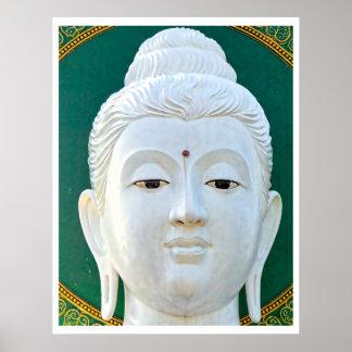 White Buddha Print