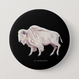 White Buffalo Button