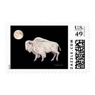 White Buffalo Full Moon Black Postage