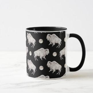 White Buffalo Full Moon Black Repeating Mug