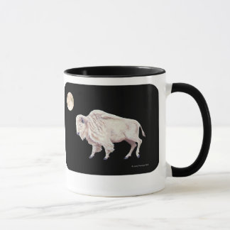 White Buffalo Full Moon Design Mug