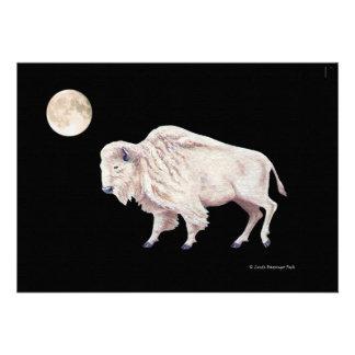 White Buffalo Full Moon Invites