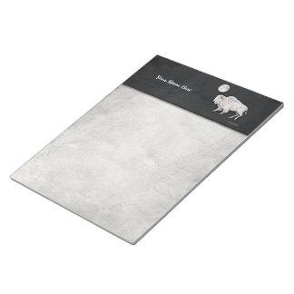 White Buffalo Full Moon Light Gray Scratch Pad
