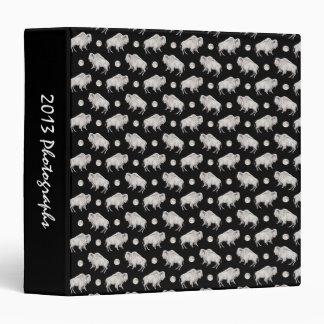 White Buffalo Full Moon Repeat Pattern Binder