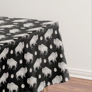 White Buffalo Full Moon Repeat Tablecloth