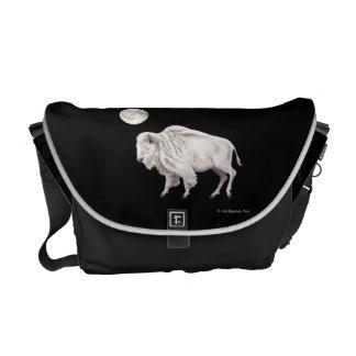 White Buffalo Full White Moon Courier Bag