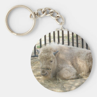 White buffalo Keychain