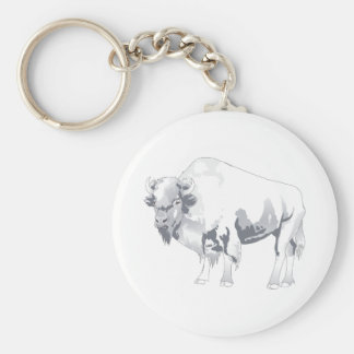 White Buffalo Key Chains