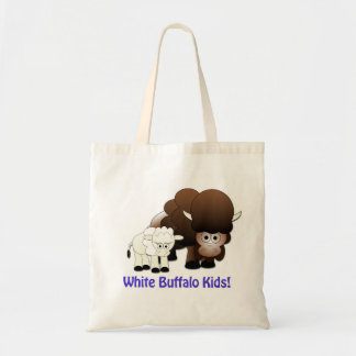 White Buffalo Kids Tote Budget Tote Bag