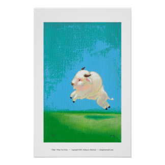 White buffalo leaping art painting When You Know Poster