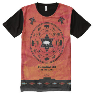 White Buffalo Medicine Wheel All-Over-Print Shirt