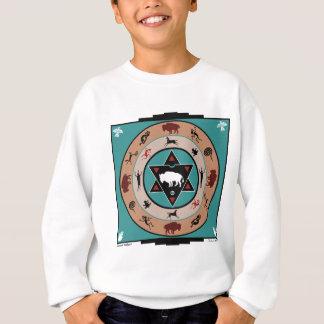 White Buffalo Medicine Wheel Sweatshirt