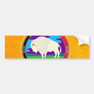 White Buffalo Native American Bumper Sticker