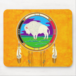White Buffalo Native American Mousepad