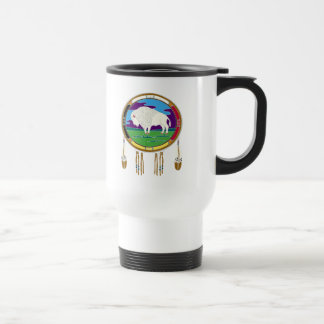 White Buffalo Native American Travel Mug