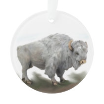 WHITE BUFFALO ORNAMENT