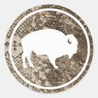 "White Buffalo Outdoors 3"" Round Camouflage Sticker"