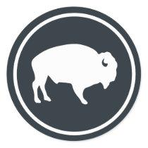 White Buffalo Outdoors Classic Round Sticker