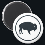 """White Buffalo Outdoors Round Magnet<br><div class=""""desc"""">White Buffalo Outdoors&#39; mission is to promote the outdoor way of life with an emphasis on hunting,  fishing,  and trapping. This simple,  yet stylish magnet,  boldly displays your support for our outdoor way of life!</div>"""