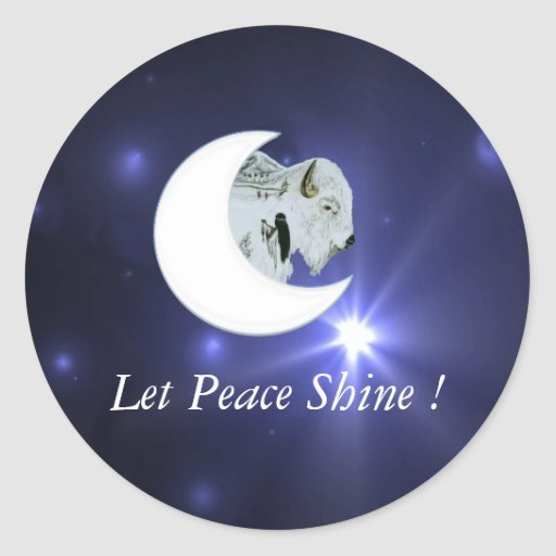 White Buffalo Peace - Sticker