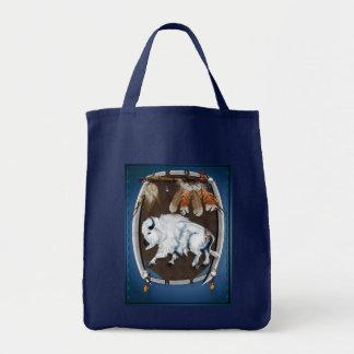 White Buffalo Shield  Bags