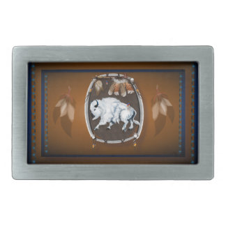 White Buffalo Shield Belt Buckle