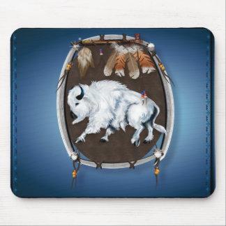 White Buffalo Shield-blue Mousepad