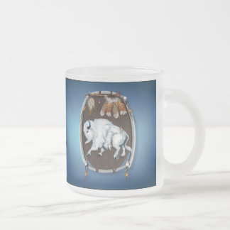 White Buffalo Shield-blue Mugs