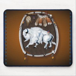 White Buffalo Shield-brown Mousepad
