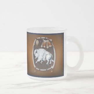 White Buffalo Shield-brown Mugs