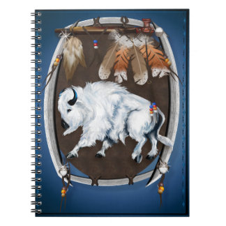 White Buffalo Shield  Notepads Note Books