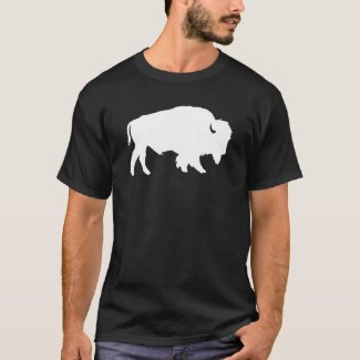 White Buffalo Silhouette Shadow Beast T-Shirt