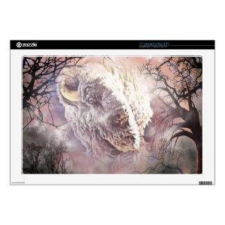 White Buffalo Vignette Laptop Skin