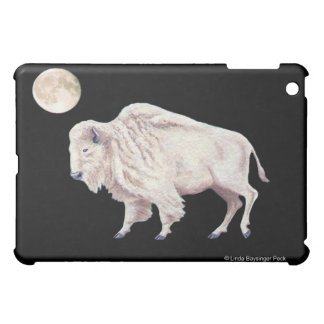 White Buffalo White Moon iPad Mini Cases