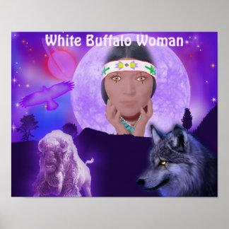 White Buffalo Woman Poster