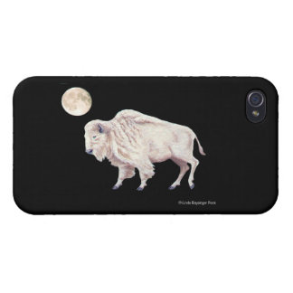White Bufffalo Full White Moon Cover For iPhone 4