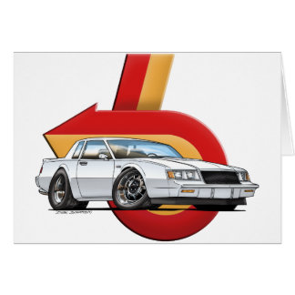 White Buick Grand National Card