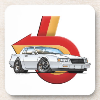 White Buick Grand National Beverage Coasters