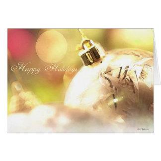 White Bulb-Christmas Holidays Greeting Card