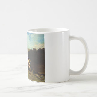 White Bull and Blond Heifer by Gustave Courbet Coffee Mug