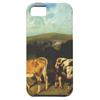 White Bull and Blond Heifer by Gustave Courbet iPhone SE/5/5s Case