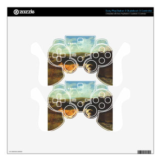 White Bull and Blond Heifer by Gustave Courbet Skins For PS3 Controllers
