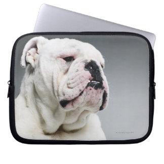 White Bull dog Computer Sleeve