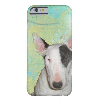 White Bull Terrier Blue Butterfly iPhone 6/6s Case