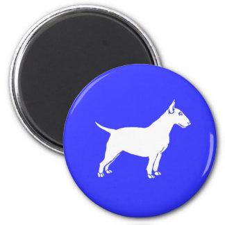 White Bull Terrier Refrigerator Magnet