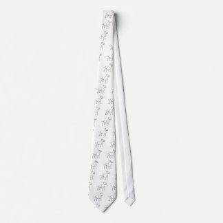 White Bull Terrier Neck Tie