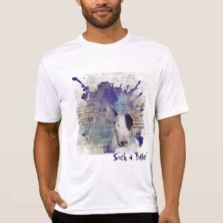 White Bull Terrier News Fitted Performance T-shirt