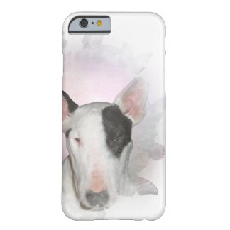 White Bull Terrier Pink Butterfly iPhone 6/6s Case