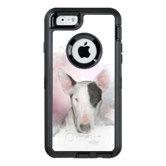 White Bull Terrier Pink Butterfly OtterBox iPhone 6/6s Case
